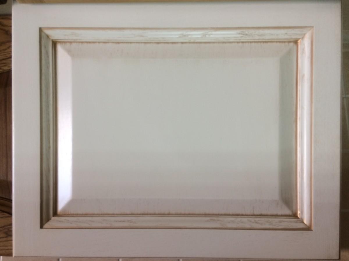 Фасад из массива+шпон, рал9001+св.бронза