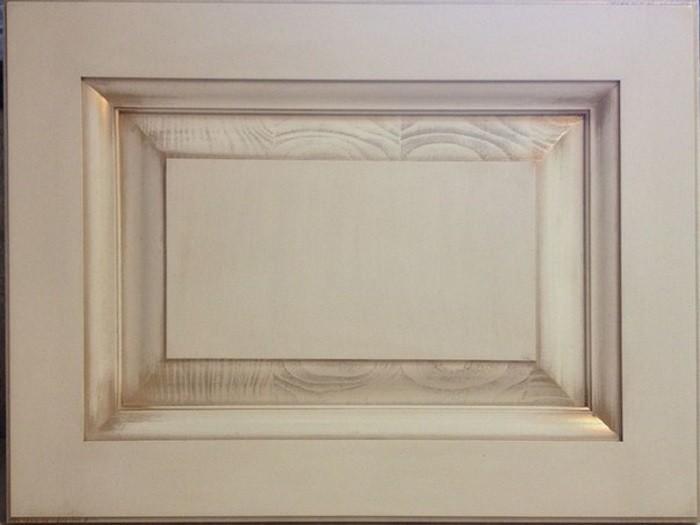 Фасад из массива бука, цвет - белёный с патиной бронза