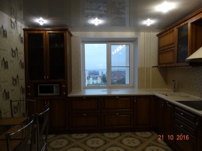 Кухня из МДФ в пленке ПВХ с фрезеровкой квадрат - вид №2